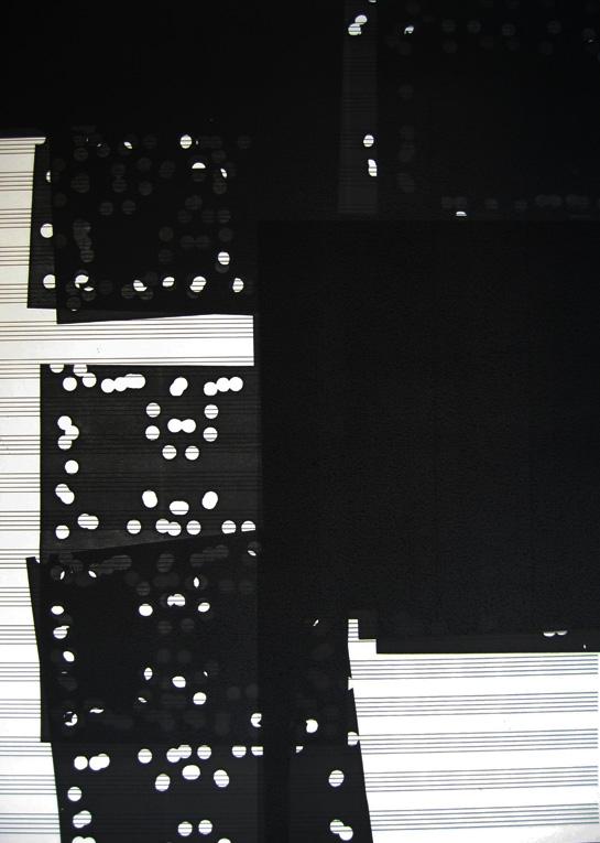 Sebastiane hegarty: Xerox score #1 (punch-hole)
