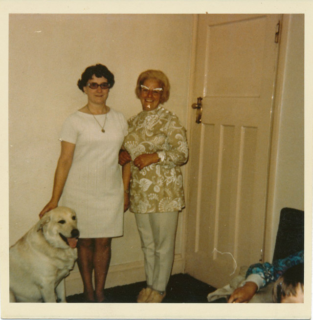 sisters: Joan and mam